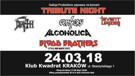 Tribute Night – Blood Brothers, Alcoholica, 4 Szmery, Event Urizen, Death Revival