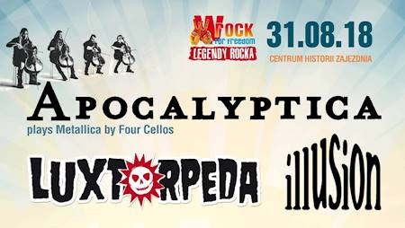 Apocalyptica, Luxtorpeda, Illusion - wROCK for Freedom 2018!