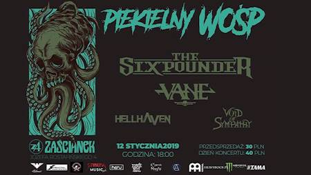 Piekielny WOŚP: The Sixpounder, Vane, HellHaven, Void Of Sympathy