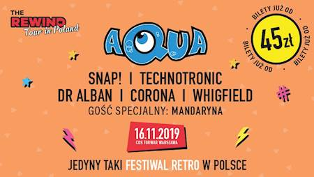 The Rewind Tour in Poland: Aqua, Snap!, Technotronic, Dr. Alban, Corona, Whigfield