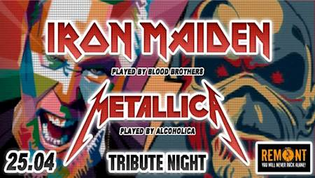 Iron Maiden & Metallica Tribute Night – Blood Brothers, AlcoholicA