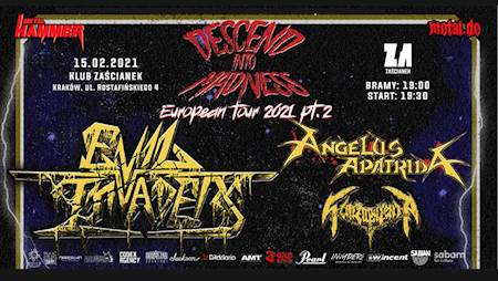 "Evil Invaders, Angelus Apatrida ""Descend Into Madness Tour 2021 Pt. 2"""