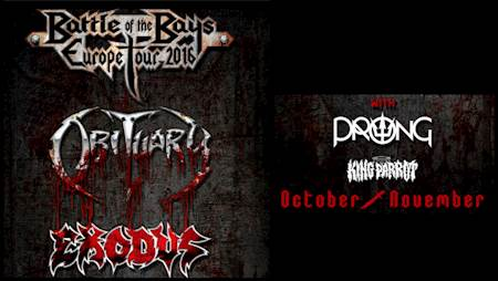 OBITUARY / EXODUS / PRONG / KING PARROT